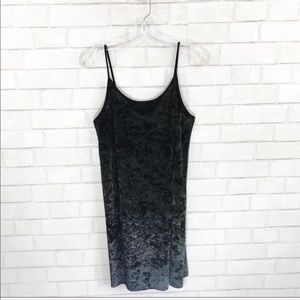Victoria's Secret black crushed velvet dress